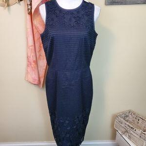 **Ann Taylor Size 8T Navy Lace Sleeveless Dress